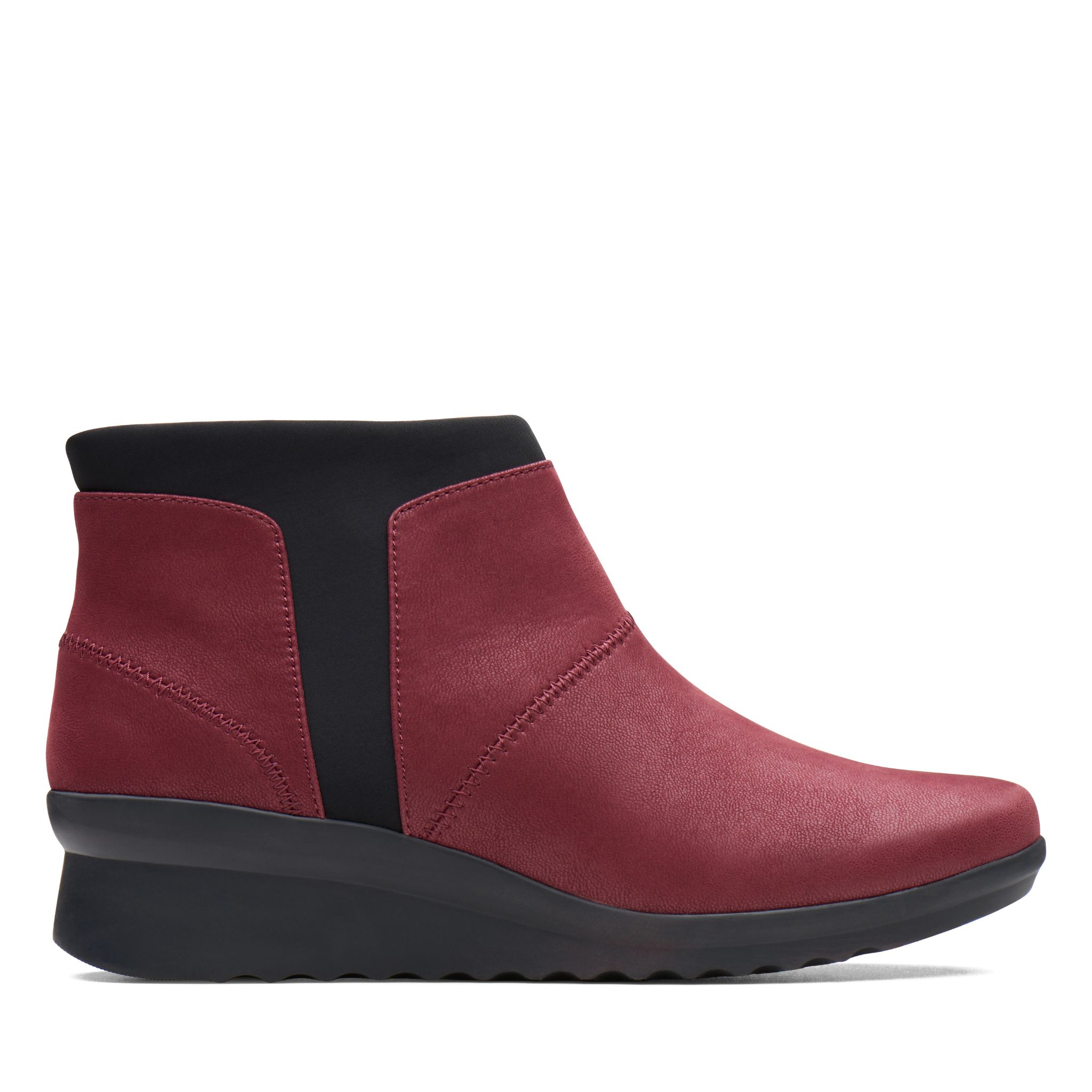 a5db4343bace Clarks Caddell Sloane Burgundy Womens Boots